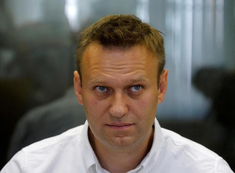 Russian anti-corruption campaigner and opposition figure Alexei Navalny attends a hearing at the Lublinsky district court in Moscow, August 2016.  REUTERS/Maxim Shemetov