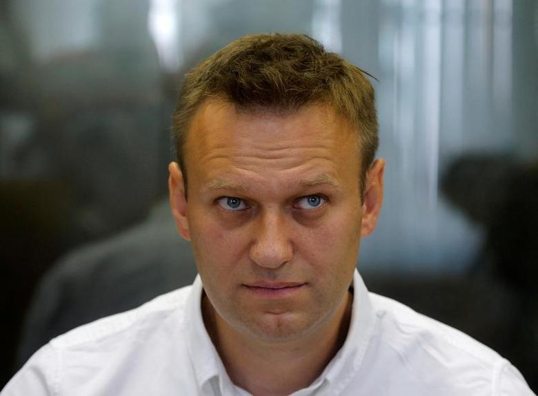 Russian anti-corruption campaigner and opposition figure Alexei Navalny attends a hearing at the Lublinsky district court in Moscow, Russia, August 1, 2016. REUTERS/Maxim Shemetov
