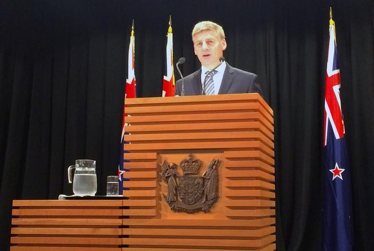 New Zealand Prime Minister Bill English speaks in Wellington, New Zealand, February 1, 2017 to announce the country's general election date will be on September 23. REUTERS/Charlotte Greenfield