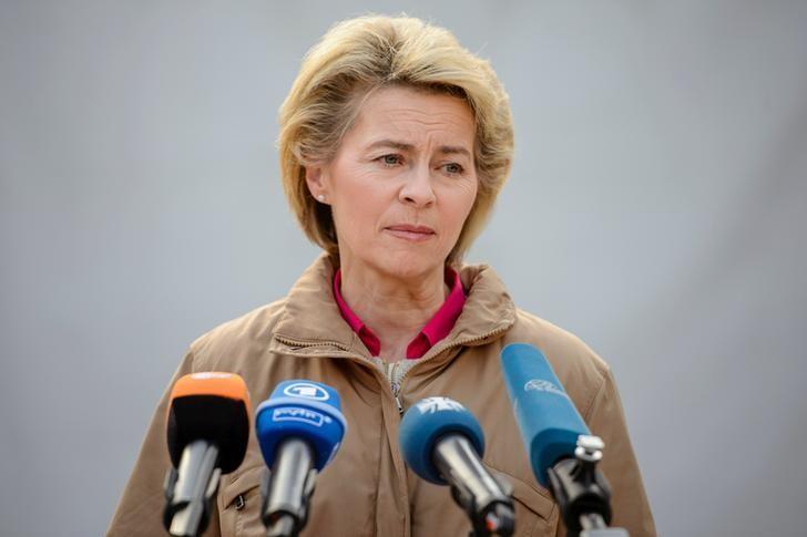 German Defence Minister Ursula von der Leyen addresses German Armed forces, Bundeswehr soldiers during her visit to Camp Marmal in Masar-i-Scharif, Afghanistan December 22, 2016. REUTERS/Gregor Fischer/Pool/Files