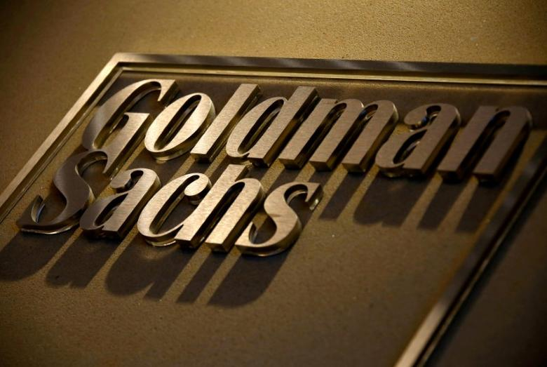 A sign is displayed in the reception of Goldman Sachs in Sydney, Australia, May 18, 2016.   REUTERS/David Gray/File Photo - RTSS9SM