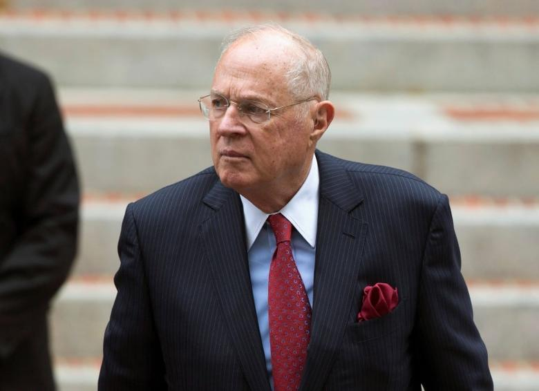 U.S. Supreme Court Associate Justice Anthony Kennedy arrives to attend the 64th Annual Red Mass at the Cathedral of St. Matthew the Apostle in Washington, U.S., October 2, 2016.    REUTERS/Joshua Roberts