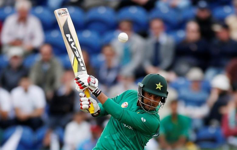 Britain Cricket - England v Pakistan - Fifth One Day International - SSE SWALEC, Cardiff, Wales - 4/9/16Pakistan's Sharjeel Khan in actionAction Images via Reuters / Paul Childs