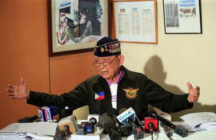 Former Philippine President and staunch environmentalist Fidel Ramos gestures while he answer questions during a news conference in Makati city, metro Manila, Philippines November 21, 2016. REUTERS/Romeo Ranoco/Files