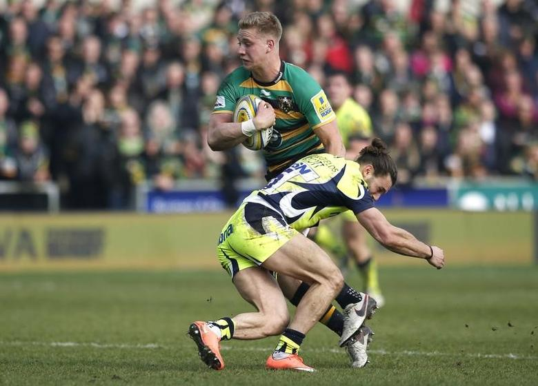 Rugby Union - Northampton Saints v Sale Sharks - Aviva Premiership - Franklin's Gardens - 12/3/16Northampton's Harry Mallinder is tackled by Sale's Tom ArscottMandatory Credit: Action Images / Paul ChildsLivepic