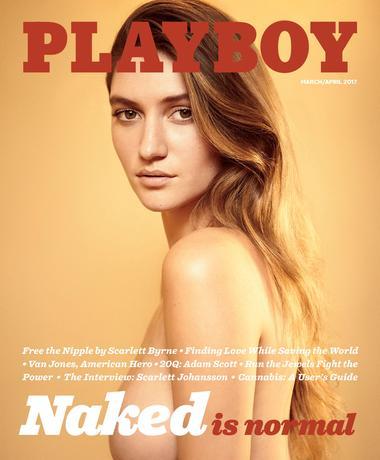 2月13日、米男性誌の「プレイボーイ」は2017年3/4月号に女性のフルヌード写真を再び掲載すると明らかにした。時代遅れだとして女性のヌード写真掲載を止めてからちょうど1年となる。写真はPlayboy Enterprises提供の3/4月号表紙(2017年 ロイター/Courtesy Gavin Bond/Playboy Enterprises, Inc)