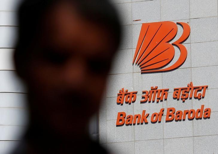 A man walks past the Bank of Baroda headquarters in Mumbai, India, May 3, 2016. REUTERS/Danish Siddiqui/File Photo