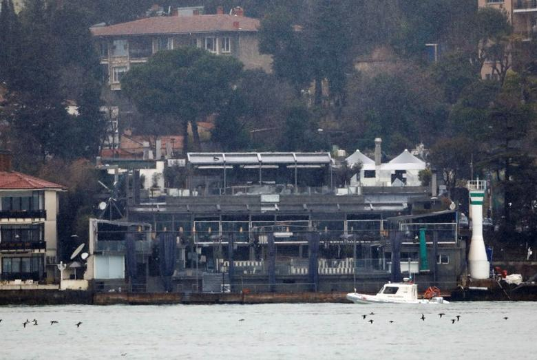A Turkish coast guard boat patrols in front of the Reina nightclub by the Bosphorus, which was attacked by a gunman, in Istanbul, Turkey, January 1, 2017. REUTERS/Umit Bektas