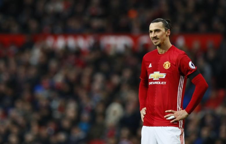 Britain Soccer Football - Manchester United v Watford - Premier League - Old Trafford - 11/2/17 Manchester United's Zlatan Ibrahimovic  Action Images via Reuters / Jason Cairnduff Livepic