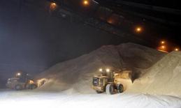 Umagen de archivo del proceso de carga de azúcar en el puerto brasileño de Santos, mayo 24, 2007. La empresa estadounidense de agronegocios Bunge reportó el miércoles una ganancia superior a la esperada, ayudada por mejores precios del azúcar y el etanol, junto con márgenes más amplios en Brasil.   REUTERS/Paulo Whitaker