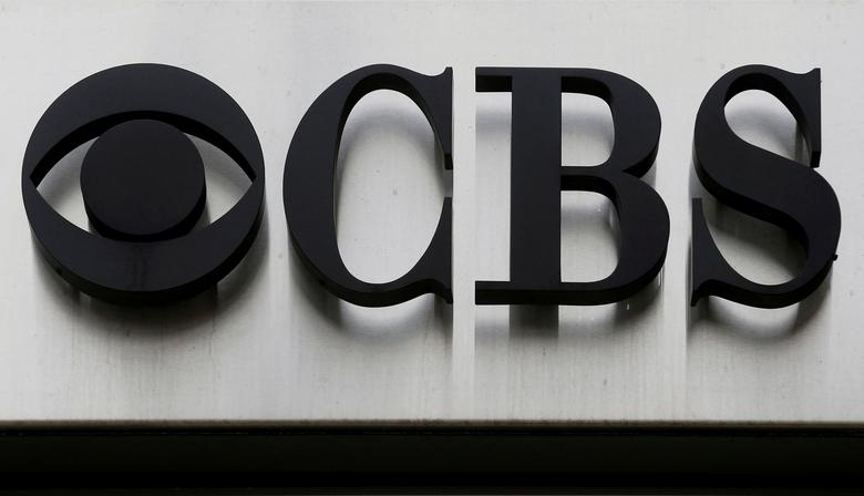 FILE PHOTO -  The CBS ''eye'' and logo are seen outside the CBS Broadcast Center on West 57th St. in Manhattan, New York, U.S. on April 29, 2016.  REUTERS/Brendan McDermid/File Photo