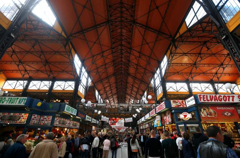 View of the main aisle at the Grand Market hall in Budapest, Hungary, May 15,  2016. REUTERS/Laszlo Balogh