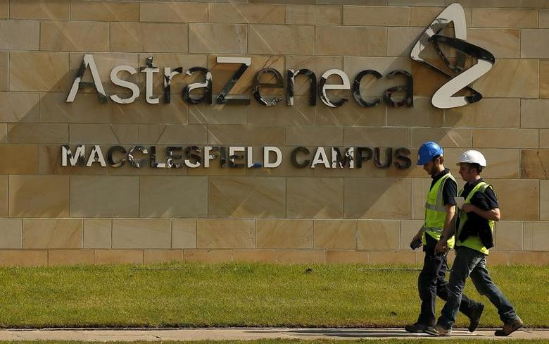 A sign is seen at an AstraZeneca site in Macclesfield, central England May 19, 2014. REUTERS/Phil Noble/File Photo