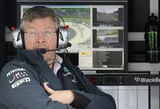 Ross Brawn looks on during the first practice session of the German F1 Grand Prix at the Nuerburgring racing circuit, July 5, 2013.    REUTERS/Kai Pfaffenbach