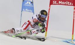 Alpine Skiing - FIS Alpine Skiing World Championships - Men's Giant Slalom - St. Moritz, Switzerland - 17/2/17 - Marcel Hirscher of Austria in action.         REUTERS/Stefano Rellandini