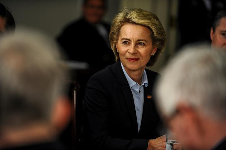 German Defense Minister Ursula von der Leyen attends a meeting with U.S. Defense Secretary Jim Mattis at the Pentagon in Arlington, U.S., February 10, 2017. REUTERS/Mary F. Calvert