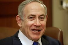 رئيس الوزراء الإسرائيلي بنيامين نتنياهو في واشنطن يوم 15 فبراير شباط 2017. تصوير: جوشوا روبرتس - رويترز