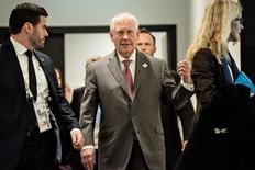 Secretário de Estado dos EUA, Rex Tillerson, em Bonn, na Alemanha.  17/02/2017.    REUTERS/Brendan Smialowski/Pool