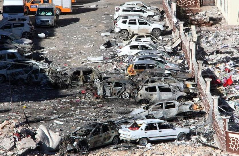 Turkey detains 26 people after car bomb, governor says PKK responsible