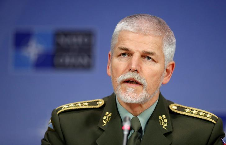 Chairman of the NATO Military Committee, Czech Army General Petr Pavel, addresses a news conference at the Alliance headquarters in Brussels, Belgium, January 18, 2017. REUTERS/Francois Lenoir