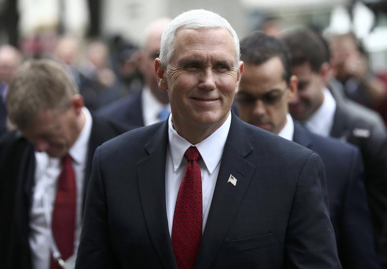 With greetings from Trump, Pence says US committed to Europe