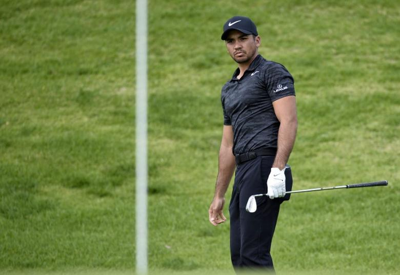 February 16, 2017; Pacific Palisades, CA, USA;  Jason Day reacts after he hits onto the second hole green during the first round of the Genesis Open golf tournament at Riviera Country Club. Gary A. Vasquez-USA TODAY Sports/Files