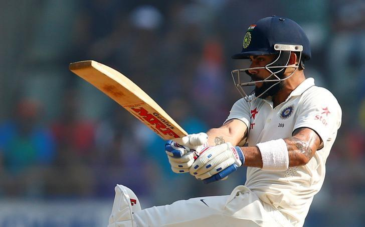 Cricket - India v England - Fourth Test cricket match - Wankhede Stadium, Mumbai, India - 10/12/16. India's Virat Kohli plays a shot. REUTERS/Danish Siddiqui/Files