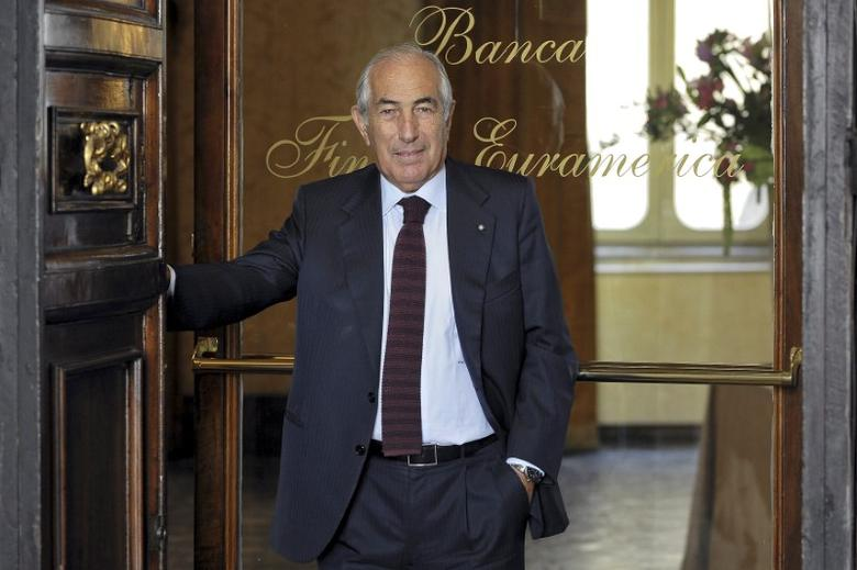 FILE PHOTO: Giampietro Nattino, chairman of Banca Finnat Euroamerica S.p.A. is seen in front of his private bank in Rome, Italy, September 20, 2011. Picture taken on September 20, 2011. REUTERS/Luigi Mistrulli/File Photo
