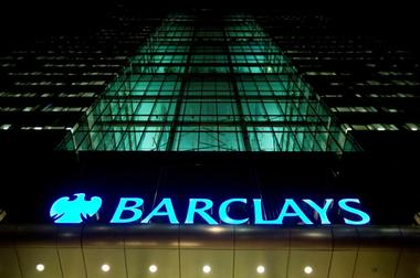 FILE PHOTO: The Barclays headquarters building is seen in the Canary Wharf...