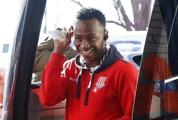 Britain Football Soccer - West Bromwich Albion v Stoke City - Premier League - The Hawthorns - 4/2/17 Stoke City's Saido Berahino arrives at the stadium before the match  Action Images via Reuters / Carl Recine Livepic/Files