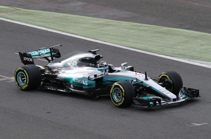 Bottas blown away by new Mercedes at windy Silverstone