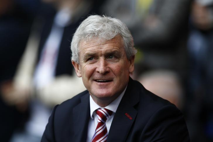 Britain Soccer Football - Tottenham Hotspur v Stoke City - Premier League - White Hart Lane - 26/2/17 Stoke City manager Mark Hughes before the match  Action Images via Reuters / Peter Cziborra Livepic