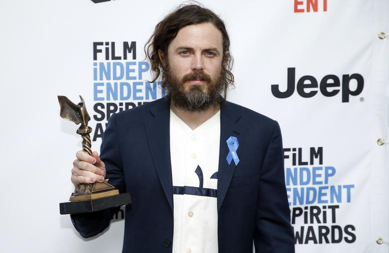 Casey Affleck poses backstage with his Best Male Lead award for 'Manchester by the Sea'' at the 2017 Film Independent Spirit Awards in Santa Monica, California, U.S., February 25, 2017. REUTERS/Danny Moloshok