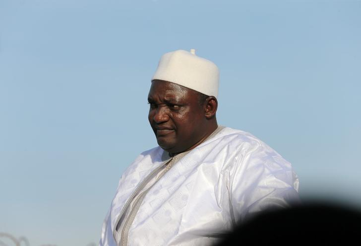 Gambian President Adama Barrow arrives at Banjul International Airport in Gambia  January 26, 2017. REUTERS/Afolabi Sotunde/Files
