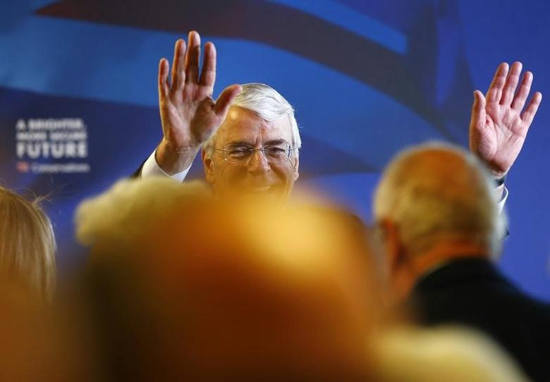 Britain's former Conservative Prime Minister John Major  in Solihull, central England, April 21, 2015. REUTERS/Darren Staples