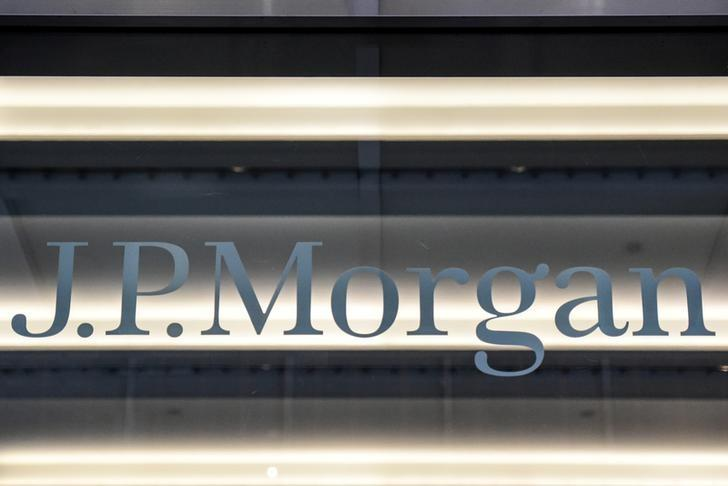 A JPMorgan Chase & Co logo is seen in New York City, U.S. on January 10, 2017. REUTERS/Stephanie Keith/File Photo
