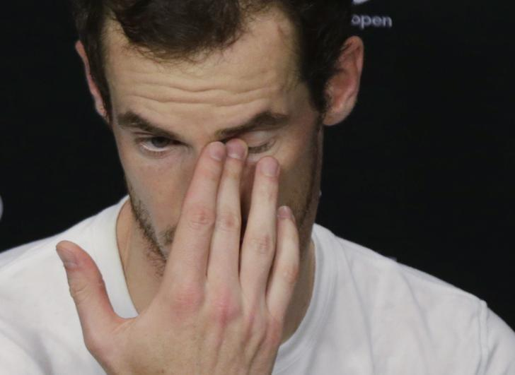 Tennis - Australian Open - Melbourne Park, Melbourne, Australia - 22/1/17 Britain's Andy Murray reacts during a post-match news conference. REUTERS/Jason Reed