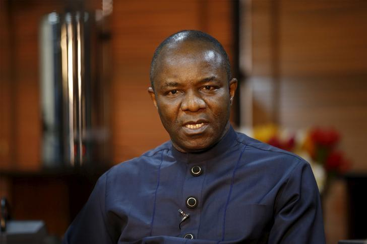 FILE PHOTO - Nigerian Oil Minister Emmanuel Ibe Kachikwu speaks during an interview with Reuters in Abuja, Nigeria February 12, 2016.REUTERS/Afolabi Sotunde/File Photo