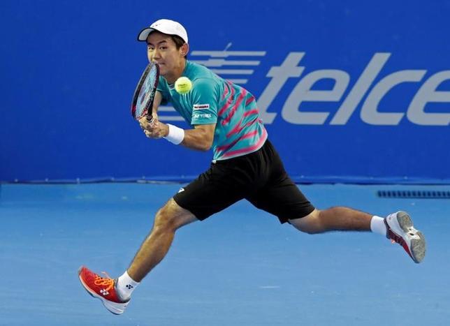 3月2日、テニスのメキシコ・オープンはメキシコのアカプルコで男子シングルス準々決勝を行い、西岡良仁(写真)は第2シードのラファエル・ナダルに6─7、3─6のストレート負けを喫した(2017年 ロイター/Henry Romero)