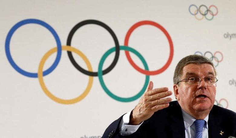 International Olympic Committee (IOC) President Thomas Bach attends a news conference after an Executive Board meeting in Lausanne, Switzerland, December 8, 2016. REUTERS/Denis Balibouse/Files
