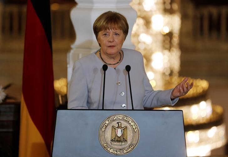 German Chancellor Angela Merkel addresses a joint news conference with Egypt's President Abdel Fattah al-Sisi following talks at the El-Thadiya presidential palace in Cairo, Egypt March 2, 2017. REUTERS/Amr Abdallah Dalsh