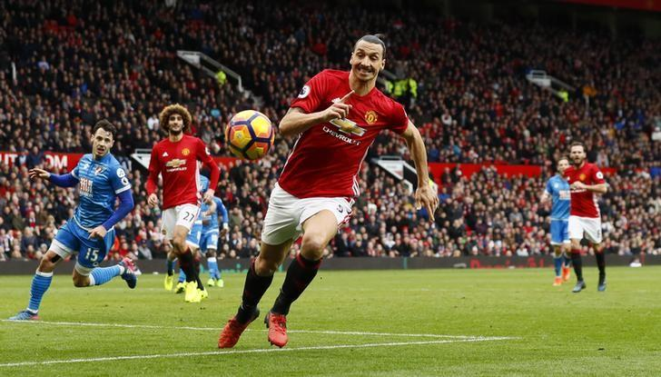 Britain Soccer Football - Manchester United v AFC Bournemouth - Premier League - Old Trafford - 4/3/17 Manchester United's Zlatan Ibrahimovic in action Action Images via Reuters / Jason Cairnduff Livepic