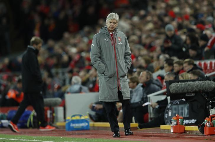 Britain Soccer Football - Liverpool v Arsenal - Premier League - Anfield - 4/3/17 Arsenal manager Arsene Wenger Action Images via Reuters / Lee Smith Livepic