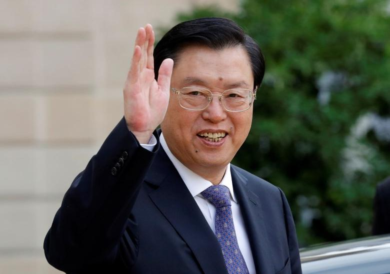 China's National People's Congress (NPC) Chairman Zhang Dejiang leaves the Elysee palace in Paris, France, September 26, 2016.   REUTERS/Philippe Wojazer/Files