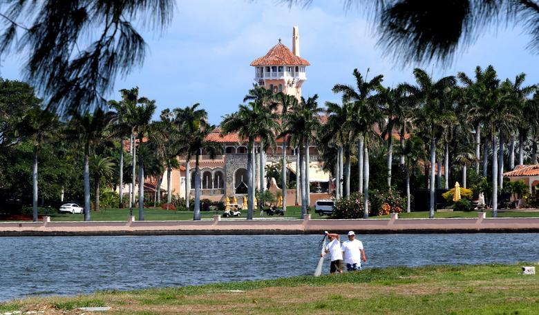 U.S. President Donald Trump's Mar-a-Lago estate in Palm Beach is seen from West Palm Beach, Florida, U.S., as Trump prepared to return to Washington after a weekend at the estate, March 5, 2017. REUTERS/Joe Skipper