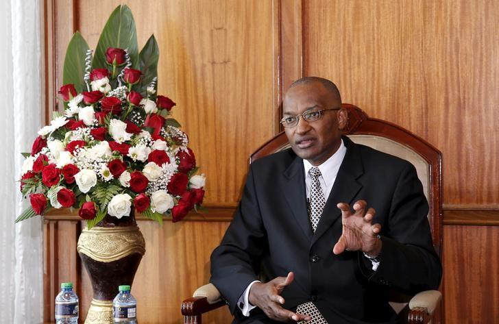 Kenya Central Bank Governor Patrick Njoroge speaks during an interview with Reuters in his office in the capital Nairobi, Kenya December 8, 2015. REUTERS/Thomas Mukoya/File Photo