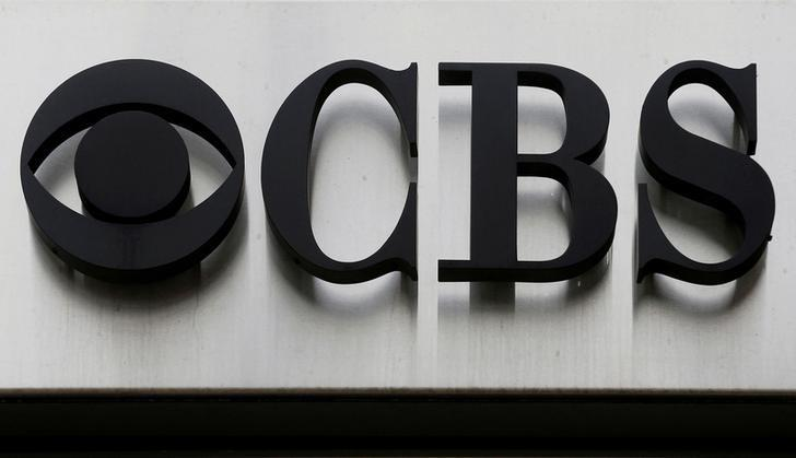 The CBS ''eye'' and logo are seen outside the CBS Broadcast Center on West 57th St. in Manhattan, New York, U.S. on April 29, 2016.  REUTERS/Brendan McDermid/File Photo/File Photo