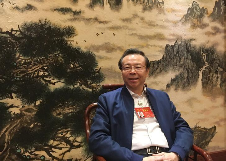 2017年3月7日,中国北京,中国华融资产管理公司董事长赖小民接受路透专访。REUTERS/Shu Zhang