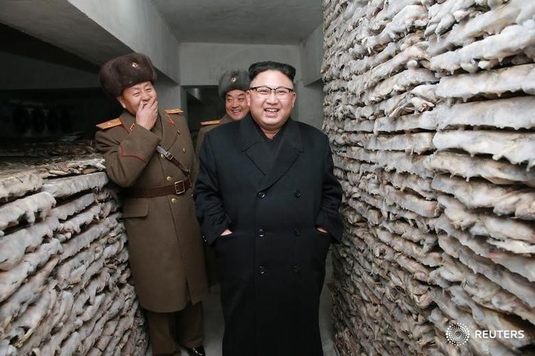 North Korean leader Kim Jong Un inspects the Headquarters of Large Combined Unit 966 of the Korean People's Army (KPA) in this undated photo released by North Korea's Korean Central News Agency (KCNA) in Pyongyang on March 1, 2017. KCNA/via REUTERS