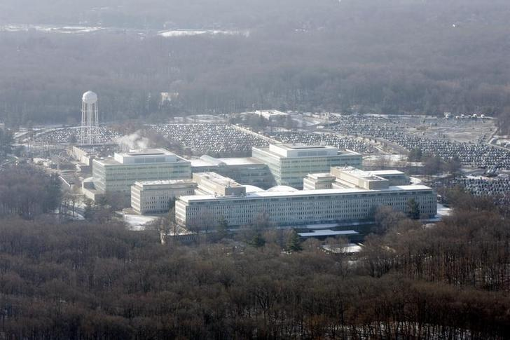 An aerial view of the Central Intelligence Agency headquarters in Langley, Virginia.       REUTERS/Jason Reed